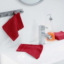 "Lot de 2 Gants de Toilette ""Vitamine"" 15x21cm Rouge"