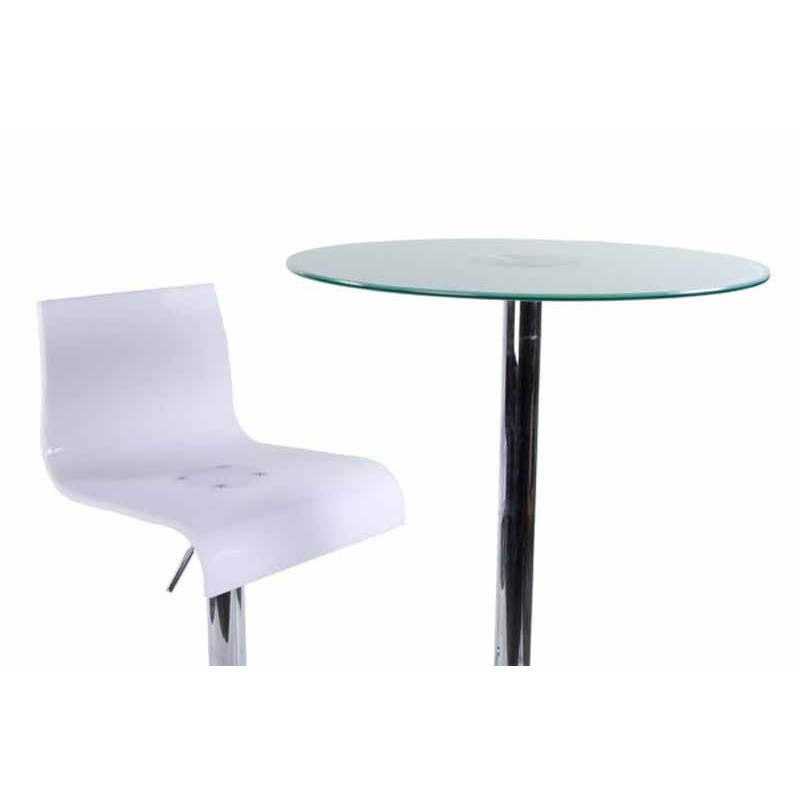 tabouret de bar space blanc. Black Bedroom Furniture Sets. Home Design Ideas
