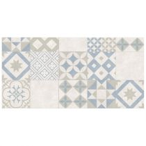 "Tapis Rectangle Vinyle ""Marbella"" 50x100cm Naturel"