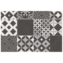 "Tapis Rectangle Vinyle ""Marbella"" 50x75cm Noir"