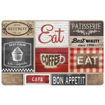 "Set de Table ""Coffee Shop"" 28x44cm Multicolore"