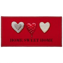 "Tapis Déco ""Home Passion"" 57x115cm Rouge"
