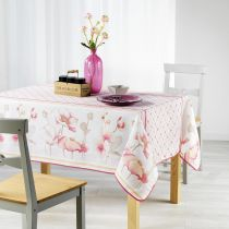 "Nappe Antitache ""Ottilie"" 150x240cm Rose"