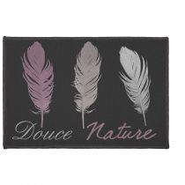 "Tapis Déco Rectangle ""Doucea"" 40x60cm Noir"