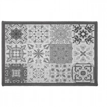 "Tapis Déco Rectangle ""Persane"" 40x60cm Gris"