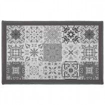 "Tapis Déco Rectangle ""Persane"" 50x80cm Gris"
