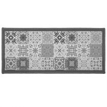 "Tapis Déco Rectangle ""Persane"" 50x120cm Gris"