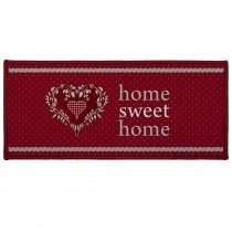 "Tapis Déco ""Home Love"" 50x120cm Rouge"