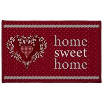 "Tapis Déco ""Home Love"" 50x80cm Rouge"