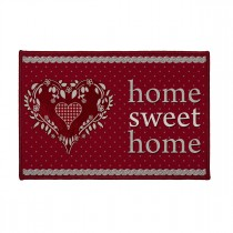 "Tapis Déco ""Home Love"" 40x60cm Rouge"