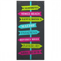 "Serviette de Plage ""Long Beach"" 70x150cm Multicolore"