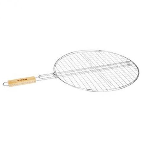 """Double Grille Barbecue Ronde """"Summer"""" 50cm Chrome"""