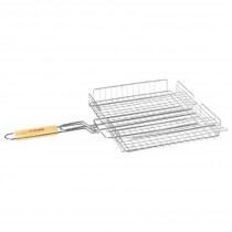 "Grille Barbecue Panier ""Summer"" 34x31cm Chrome"