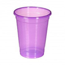 "Lot de 50 Gobelets Jetables ""Flash"" 190ml Violet"