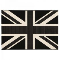 "Tapis de Salon ""London"" 160x230cm Noir"