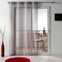 "Rideau Voilage Maille ""Adria"" 140x240cm Taupe"