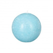 """Bougie Boule """"Rustic"""" 8cm Turquoise"""