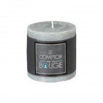 """Bougie Ronde """"Rustic"""" 7cm Taupe"""