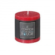 """Bougie Ronde """"Rustic"""" 7cm Rouge"""