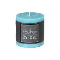 """Bougie Ronde """"Rustic"""" 7cm Turquoise"""