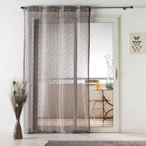 "Rideau Voilage Maille ""Loria"" 140x240cm Taupe"