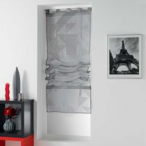 "Store Voilage ""Galbiano"" 45x180cm Gris"