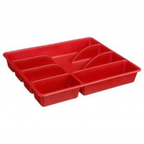 "Range Couverts 5 Cases ""Mat"" 31cm Rouge"