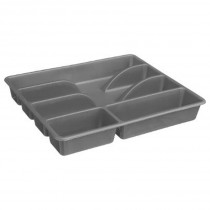 "Range Couverts 5 Cases ""Mat"" 31cm Gris"