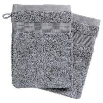 "Lot de 2 Gants de Toilette ""Aylan"" 15x21cm Gris"