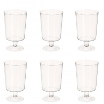 "Lot de 6 Verres à Vins Plastique ""Top"" 180ml Transparent"