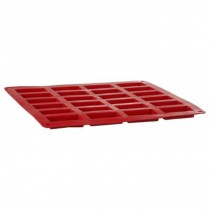 "Moule 24 Financiers Silicone ""Silipro"" 28cm Rouge"