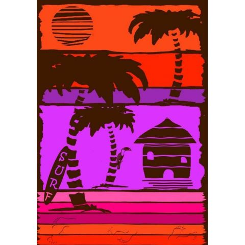 Drap de Plage 140x200cm WoodSurf Orange