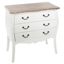 "Commode 3 Tiroirs ""Chrysa"" 75cm Naturel"