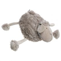 "Peluche Mouton ""Foulard"" 38cm Taupe"