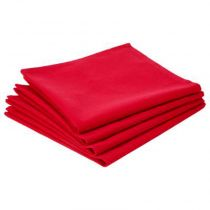 "Lot de 4 Serviettes de Table ""Coton"" 40cm Rouge"