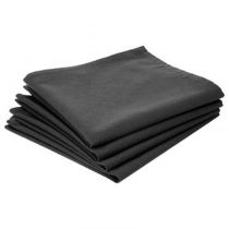 "Lot de 4 Serviettes de Table ""Coton"" 40cm Gris Foncé"
