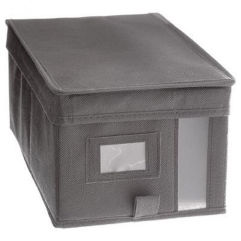 bo te de rangement dressing 20x30cm gris clair. Black Bedroom Furniture Sets. Home Design Ideas