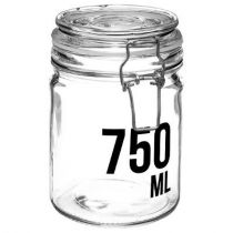 "Bocal en Verre ""Ecriture"" 750ml Transparent"