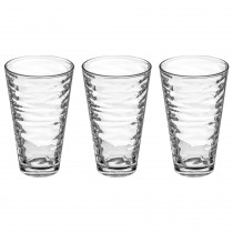 "Lot de 3 Gobelets en Verre ""Origami"" 33cl Transparent"