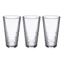 "Lot de 3 Gobelets en Verre ""Granada"" 34cl Transparent"