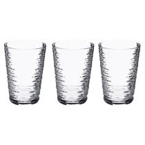 "Lot de 3 Gobelets en Verre ""Granada"" 29cl Transparent"