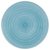 "Lot de 6 Assiettes Plates ""Louise"" 27cm Bleu"