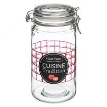 "Bocal en Verre ""Cuisine Tradition"" 1L Transparent"