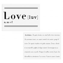 "Lot de 2 Stickers Muraux ""Love"" 70x80cm Blanc"