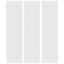 "Lot de 3 Stickers de Tiroirs ""Chevrons"" 22x80cm Gris"