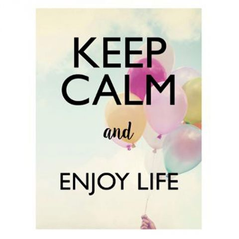 "Sticker Mural Keep Calm ""Enjoy"" 30x40cm Multicolore"