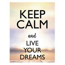 "Sticker Mural Keep Calm ""Dreams"" 30x40cm Multicolore"