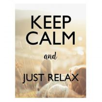 "Sticker Mural Keep Calm ""Relax"" 30x40cm Multicolore"