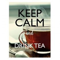 "Sticker Mural Keep Calm ""Tea"" 30x40cm Multicolore"