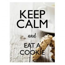 "Sticker Mural Keep Calm ""Cookie"" 30x40cm Multicolore"